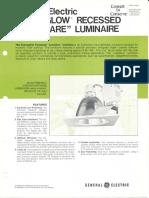 GE Lighting Systems Econoglow Recessed 'Lowglare' Series Spec Sheet 10-75