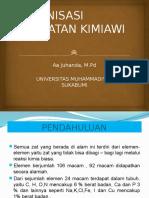 2. Organisasi Tingkatan Kimiawi