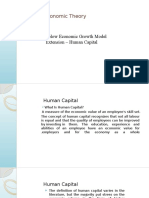 Solow Economic Growth Model Extension-Human Capital