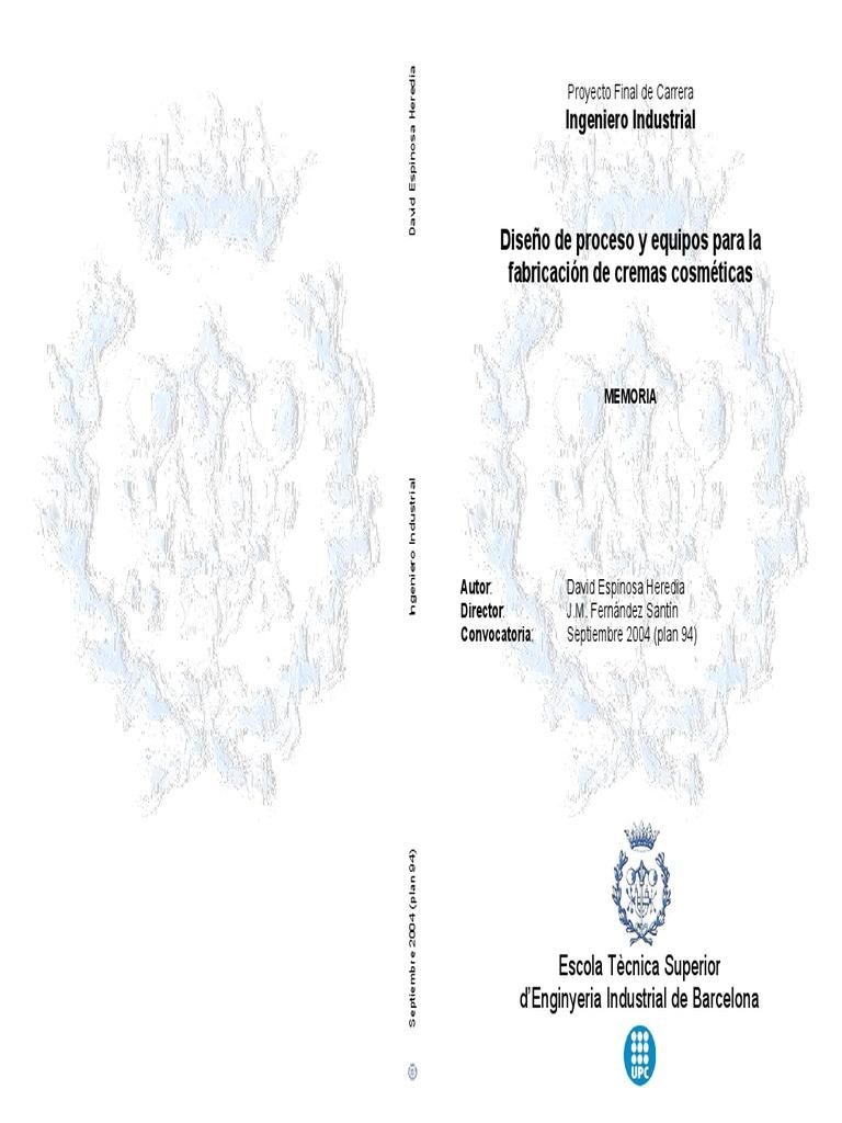 Chemical Organic - Diseño de Proceso y equipos para la fabricación ...