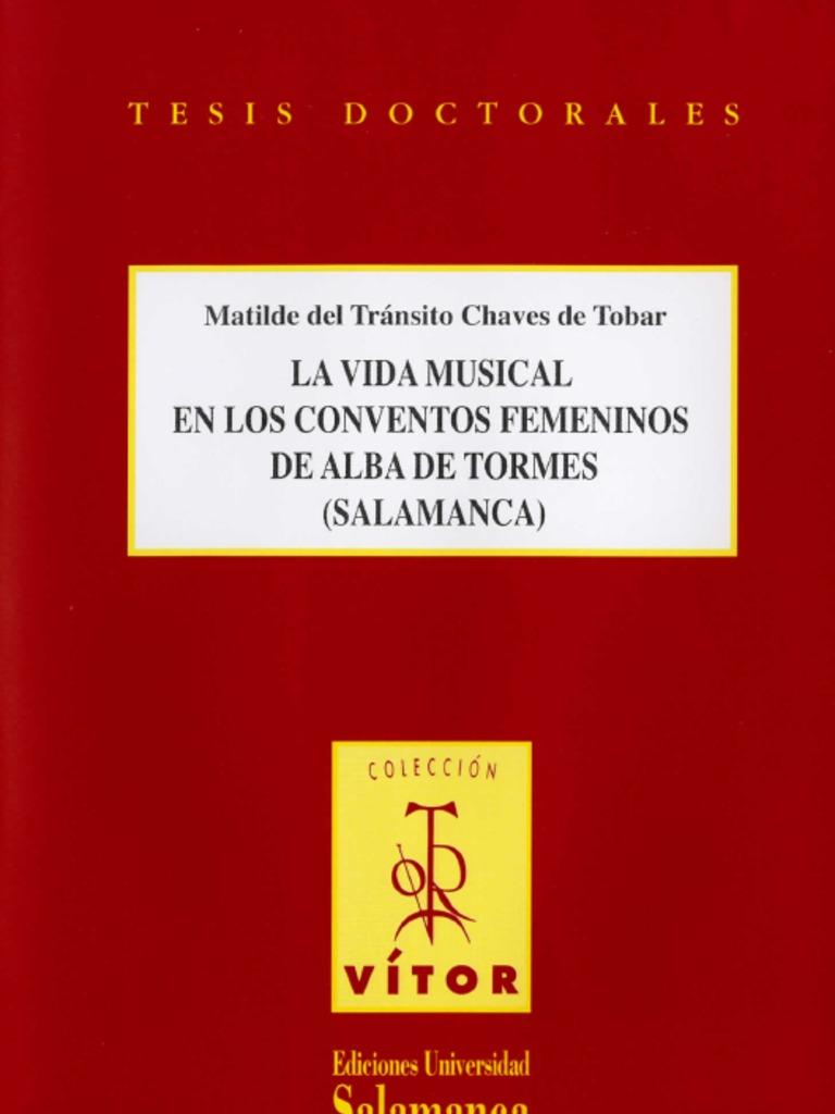 La Vida Musical En Los Conventos Femeninos De Alba De Tormes  # Muebles Padua Salamanca