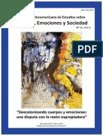 Revista Latinoamericana de Estudios Sobre Cuerpos, Emociones y Sociedad, 16