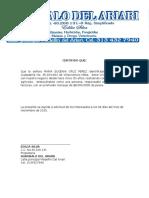 Certificacion Bancaria AGROBALO DEL ARIARI