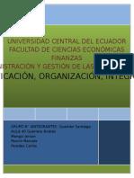 Planificación, Organización e Integración