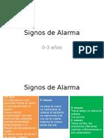 Signos de Alarma (0-3 Años)