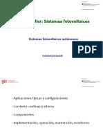 Sistemas fotovoltaicos autonomos