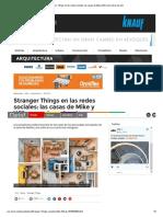 Stranger Things en Las Redes Sociales_ Las Casas de Mike y Will Como Obras de Arte