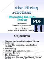 Recruitment-Hiring Process Supervisory Training FY2016