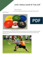 Permainan Frisbee Dan Sukan Ultimate _ Maklumat 1 Murid 1 Sukan Untuk Si 'Tak-Arif'