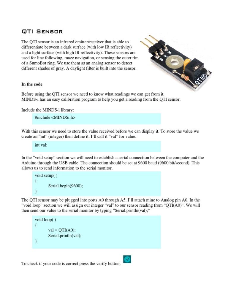 15.1 QTI Sensor.pdf | Arduino | Integer (Computer Science)