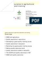 UN-quality Assurance for Farming Programs