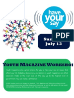 Youth Magazine Workshop