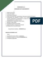 MEMORANDO DE PLANEAMIENTO