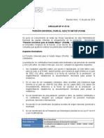 Circular DP27-16 Pensión Universal Para El Adulto Mayor