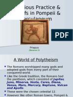Religious Practice & Beliefs in Pompeii & Herculaneum (1)