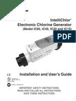 IntelliChlorElectronicChlorineGenerator520589J