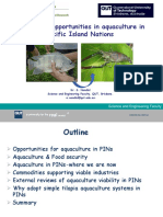 Investment Opportunities in Aquaculture in Pacific Islands Nations