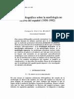 Ensayo Bibliográfico Sobre La Morfología No Flexiva Del Español