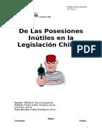8. De las posesiones inútiles en la legislación chilena