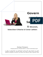 GOVERNMENT SAMPLES - Resumes%2c Selection Criteria & Cover Letters.doc