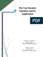 The Van Deemter Equation by Fahad