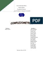 Complejometria cualitativa