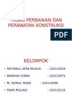 Tugas Perbaikan Dan Perawatan Konstruksi Kelompok 1
