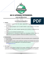 2015 Apogce Petrobowl Rules & Regulation