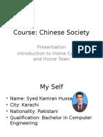 Chinese Society Presentation