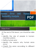 8.0 HFE - Human Error and Human Reliability Analysis