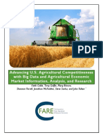 Advancing U.S. Agricultural Competitiveness with Big Data and Agricultural Economic Market Information, Analysis, and Research
