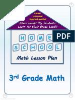 3rd Grade Math Lesson Plan - FREE (3718085)