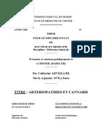 Arteriopatias y Cannabis