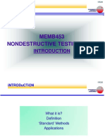 NDT Intro and Applications