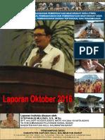 Monthly Individual Report P3MD - Stephanus Mulyadi - TA PSD Kapuas Hulu Oktober 2016