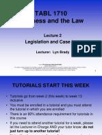 TABL 1710 Lecture 2 Semester 2 2016