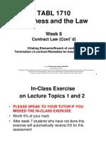 TABL 1710 Lecture 6, Semester 2 2016