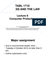 Lecture 8 (Consumer Law) Powerpoint Slides
