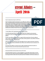 Current Affairs – April 2017