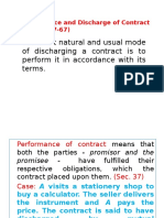 FMS- Performance and Discharge of Contract