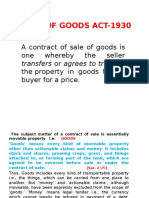 FMS- Sales of Goods Act-1930