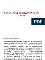 FMS Negotiable Instruments ACT 1881
