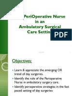 Perioperative Nurse in Ambulatory Setting