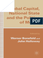Werner Bonefeld, John Holloway Eds. Global Capital, National State and the Politics of Money