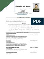 José Andrés Pinto Miranda (Curriculum)