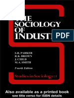 S. R. Parker-The Sociology of Industry (Studies in Sociology) (1988)