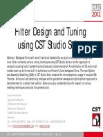 CST Filter Design