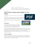 Maxim Tutorial - Audio Amplifier