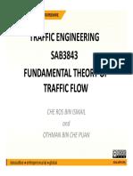 Fundamental Theory of Traffic Flow