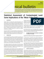 Statistical Assessment of Contaminated Land